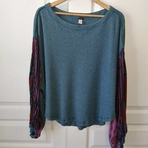 We The Free Blossom Thermal Top Red Size M